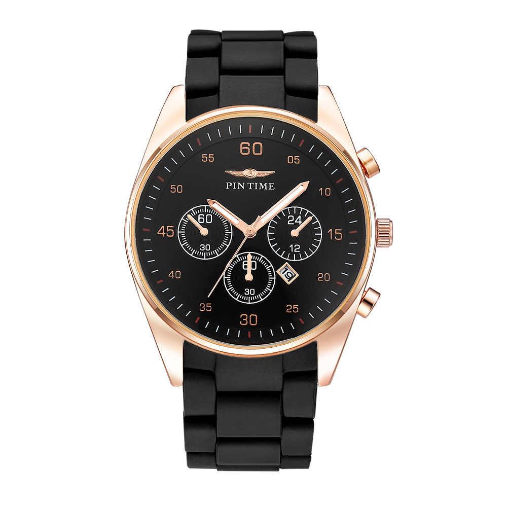 New Brand Quartz Men Watches Sport Watches Men Steel Band Military Clock Waterproof Gold Wrist Watch Relogio Masculino