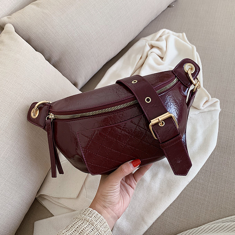 2020 Women Famous Brand Female Bags Waist Black Bag Women Waist Bag PU Leather Shoulder Crossbody Chest HandBag