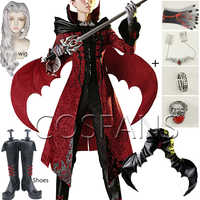 ¡Anime! Identity V-traje de batalla de piel de la espada de sangre, uniforme de lujo modesto, disfraz de Halloween, pelucas y zapatos