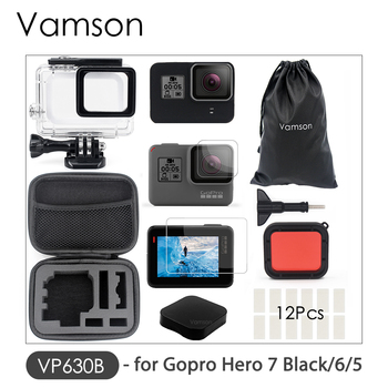 Vamson for Gopro Hero 8 7 6 5 Black 45M Underwater Waterproof Case Camera Diving Housing Mount for GoPro Accessory VP630 9