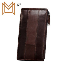 Head Layer Cowhide Card Package Man Long Wallet Position Card Package Credit Mix Bank Card