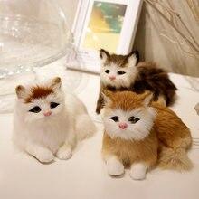 Симулятор мягкая кошка реалистичные набитые животные Миниатюрный