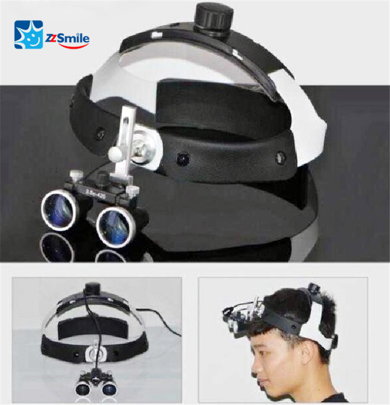 Dental Magnifying Loupe With LED Headlight Head-mounted Loupe And Headlamp