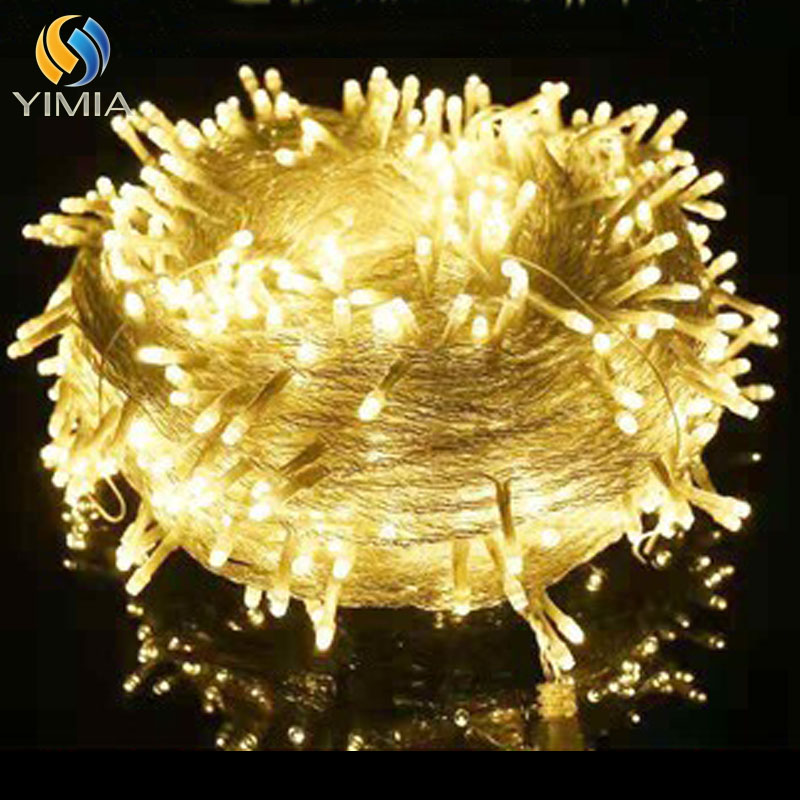 YIMIA Warm White Christmas Lights 10M 100LED Decorative Led String Fairy Light 8 Modes Garlands Lights For Wedding Party Holiday