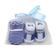 Baby Socks+Anti-Scratch Gloves Set for Baby Boys Infant 0-6 Months Newborn Gifts