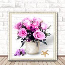 Diy 5d алмазная картина для гостиной ваза спальни вышивка крестиком