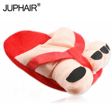 New Women Anti-skid Winter Warm With Cute Five-finger Lovers Shoes Toe Big Feet Cartoon Thick all-inclusive with cotton slippers недорго, оригинальная цена