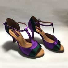 Dance-Shoes Latin Heel Low-Heel-Available Women for Comfortable Elegant MS6239PDG