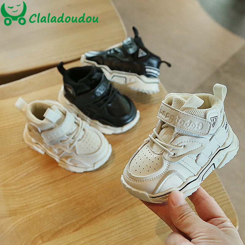 12-15.5cm Spring Baby Girl Boy Toddler Shoes Infant Casual Walkers Shoes 0-2Y Breathable Boots Sport Shoes Kid Sneakers White