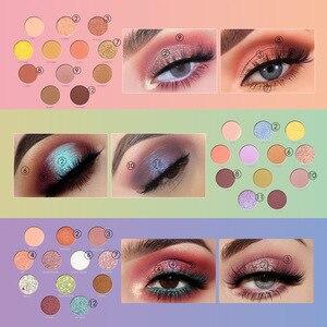 Image 4 - FOCALLURE Neueste Lidschatten palette Myserious Zeit 12 Farben Shades Von Palette Glitter Make Up Lidschatten