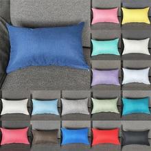 Rectangular Cushion Cover Linen Cotton Blend Pillowcase Sofa Bed Decorative Pillow Pillowcase Household Textile Products