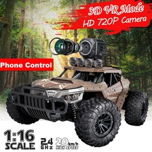 High Speed 1:16 Radio Remote Control Rc Car with Wifi 720p HD Camera 2.4GHz Off-road Buggy Vehicles Toy Gifts for Children
