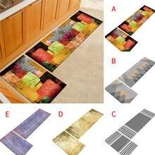 Нескользящий кухонный коврик с резиновой подложкой для дома
