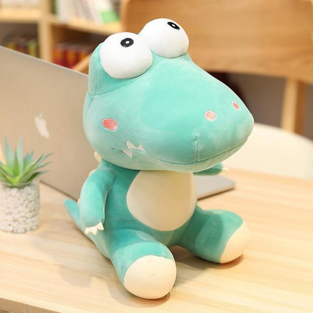 20cm/35cm/45cm Funny Kawaii Big Eyes Crocodile Plush Toy Soft Cartoon Animal Three Colors Crocodile Stuffed Doll Gift for Child