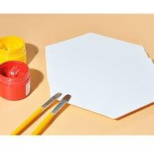 Planche à dessin sur toile hexagonale de 12.5cm, planche de peinture artistique épaisse, planche de peinture à l'huile de forme ronde pour artiste, carnet de croquis