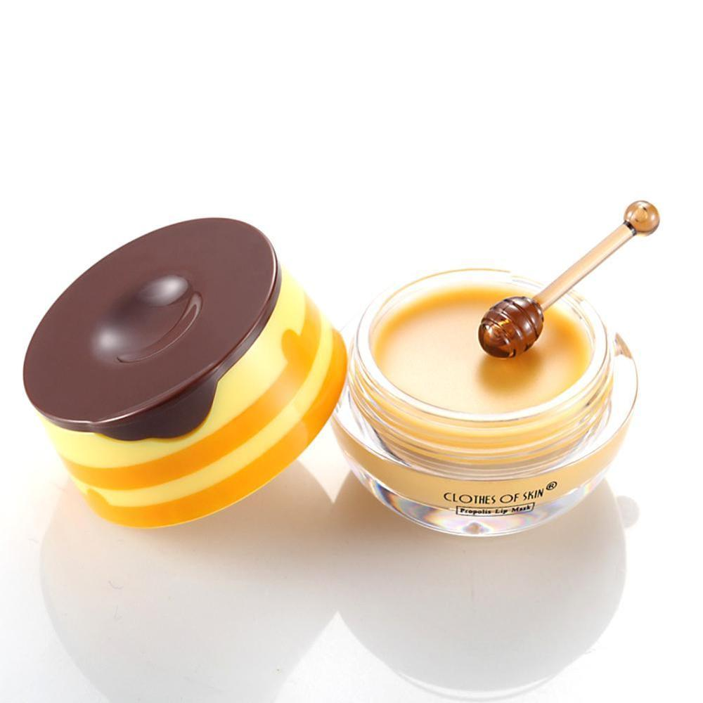 Propolis Moisturizing Lip Mask Sleep Lip Balm Nourishing Anti-wrinkle Lip Care Anti-cracking Unisex Lip Mask With Brush