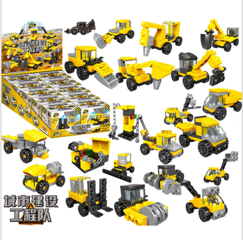 City Bricks For Kids Engineering Bulldozer Crane Technic Truck Building Block Construction Toy For Children Clicking Block