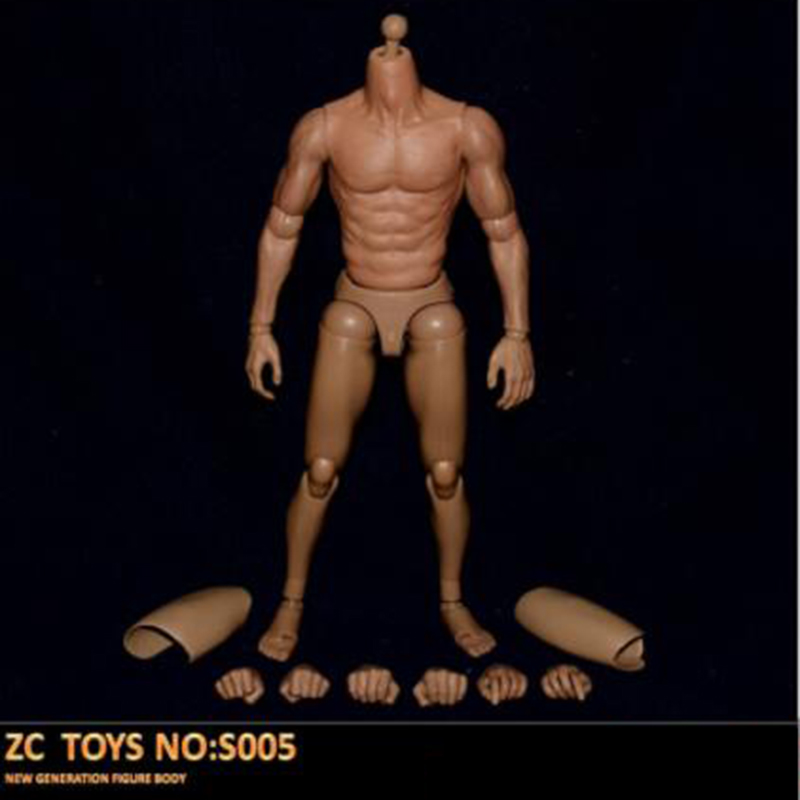 1/6 Scale S005 Male Man Boy Body Figure Military Chest Muscular Similar To TTM19 12