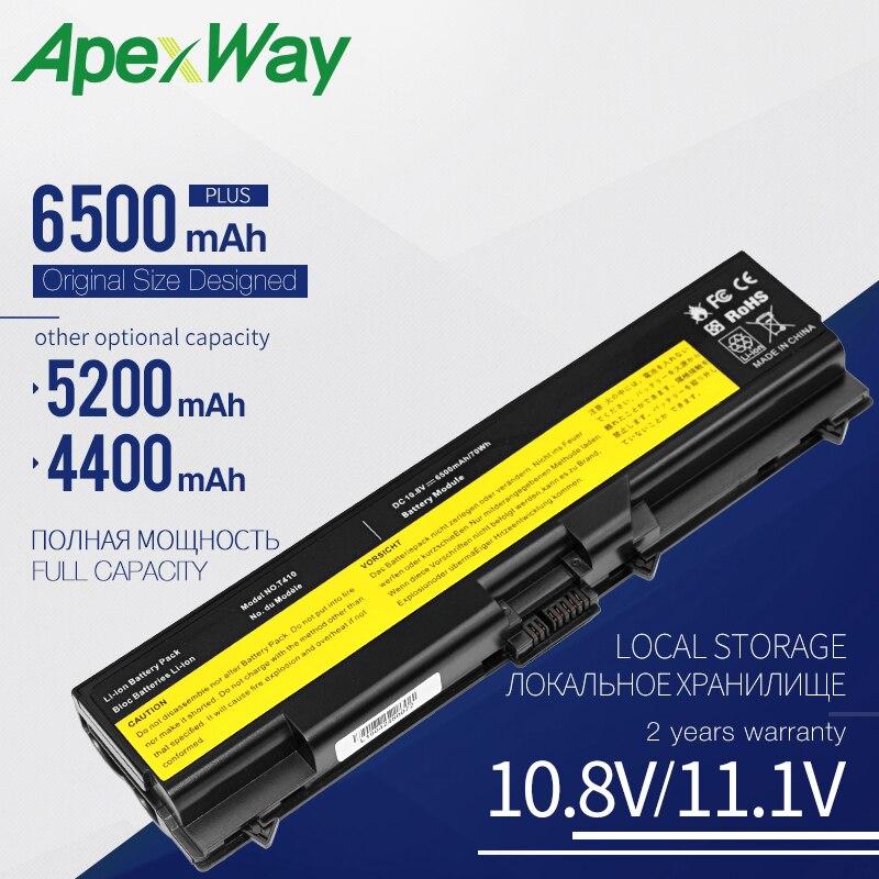 Apexway Laptop Battery For Lenovo ThinkPad E40 E50 Edge 0578-47B E420 E425 E520 E525 L410 L412 L420 L421 L510 L512 L520 T410