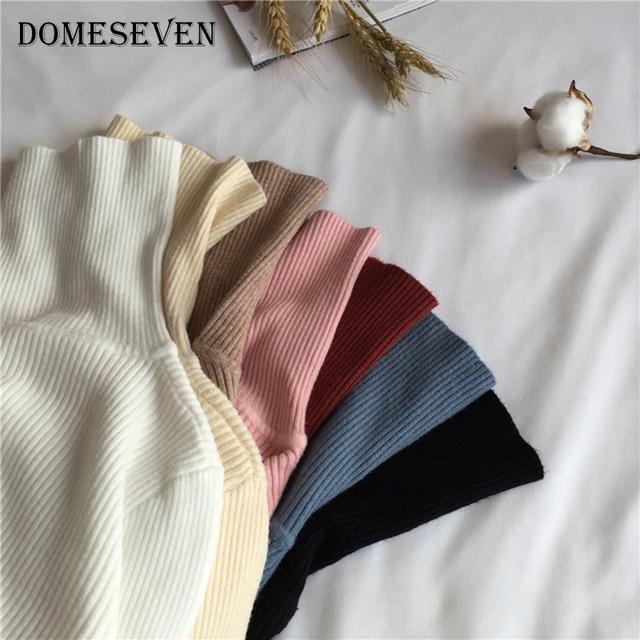 Basic Turtleneck Women Sweaters 2020 Autumn Winter Tops Korean Slim Women Pullover Knitted Sweater Jumper Soft Warm Pull Femme 2