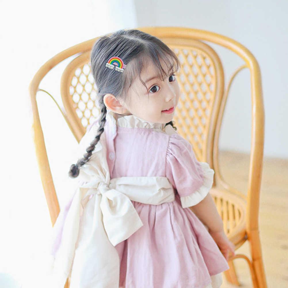 น่ารักเมฆสาว Lollipop Rainbow Hairpins การ์ตูน Bobby PIN คลิปผมสำหรับเด็กผู้หญิงแถบคาดศีรษะเด็กอุปกรณ์เสริมผม