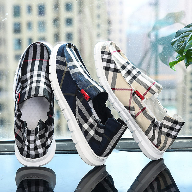 Autumn Old Beijing Cloth Shoes Men Red Shoes Breathable Lightweight Slip-on Loafers Soft-Sole Waterproof MEN'S Shoes Trend