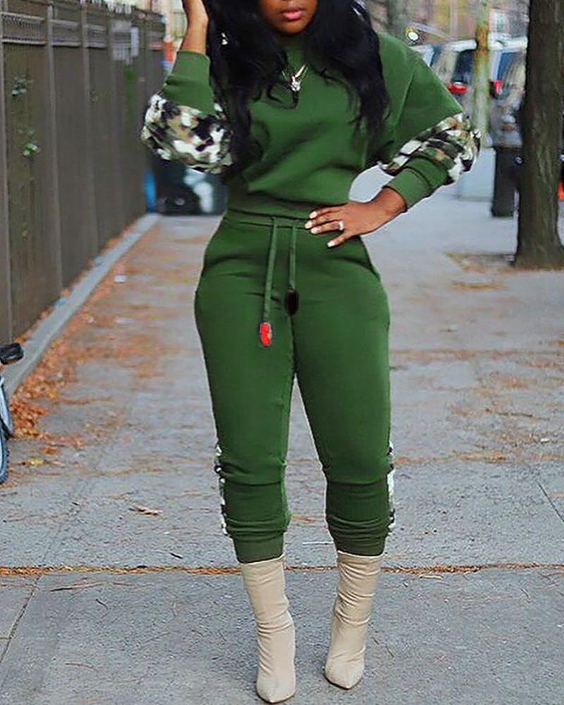 Женские модные костюмы Осенний повседневный комплект из двух