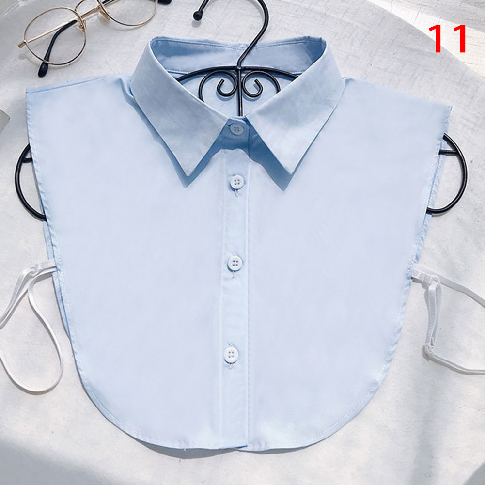 Women Shirt Fake Collar White Black Vintage Detachable False Collar Blouse Lapel Elastic Collar Tie Women Clothes Accessories
