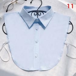 Women Shirt Fake Collar White Black Vintage Detachable False Collar Blouse Lapel Elastic Collar Tie Women Clothes Accessories