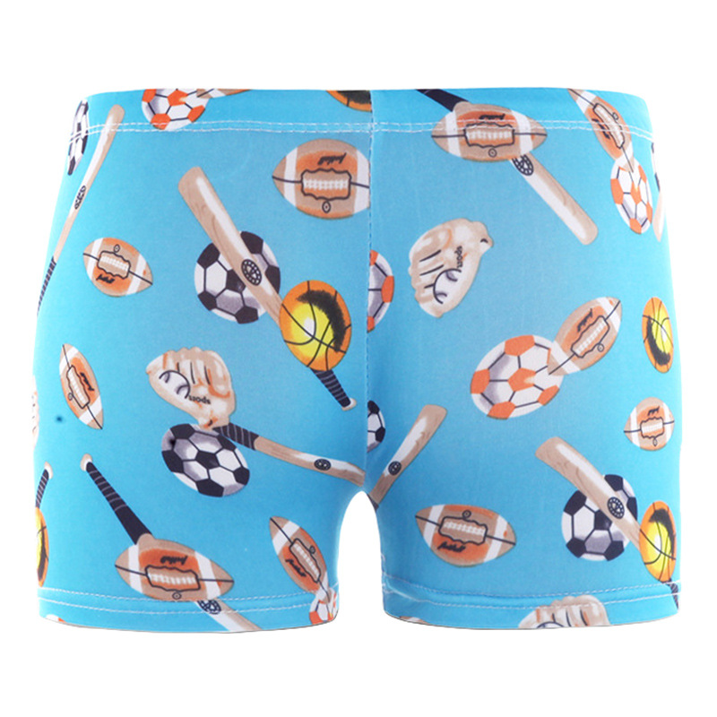 New Products Children Boxer Infants Cute BOY'S Baby Swimming Trunks Bathing Suit Middle And Large Cartoon Polyester Shorts