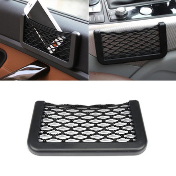 Universal Car Storage Net Automotive Pocket Organizer Bag for Phone Holder Box Facial Tissue For All Car Accessories 15*8 20*8CM image