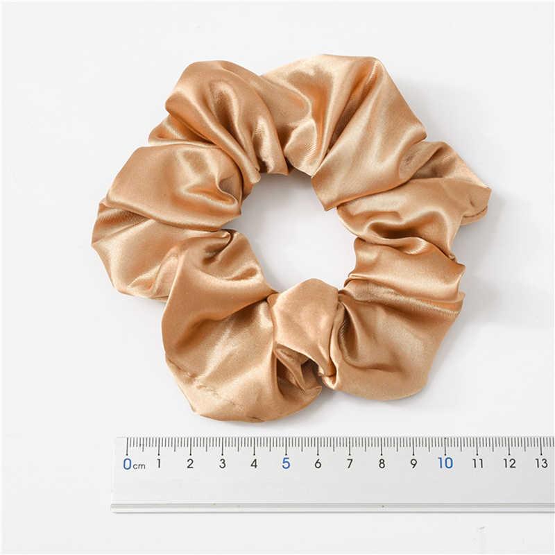 1PC Satin Lụa Màu Scrunchies Thun Cột Tóc 2019 Phụ Nữ Mới Bé Gái Phụ Kiện Tóc Đuôi Ngựa Giá Đỡ Dây Buộc Tóc dây