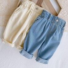MILANCEL 2021 Spring  Kids Pants Bud Wasit Girls Trousers Fashion Boys Denim Pants Girl Jeans