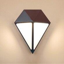 Creative Diamond Aluminum Led Outdoor Wall Light Waterproof 12W Garden Lamp IP65 Modern