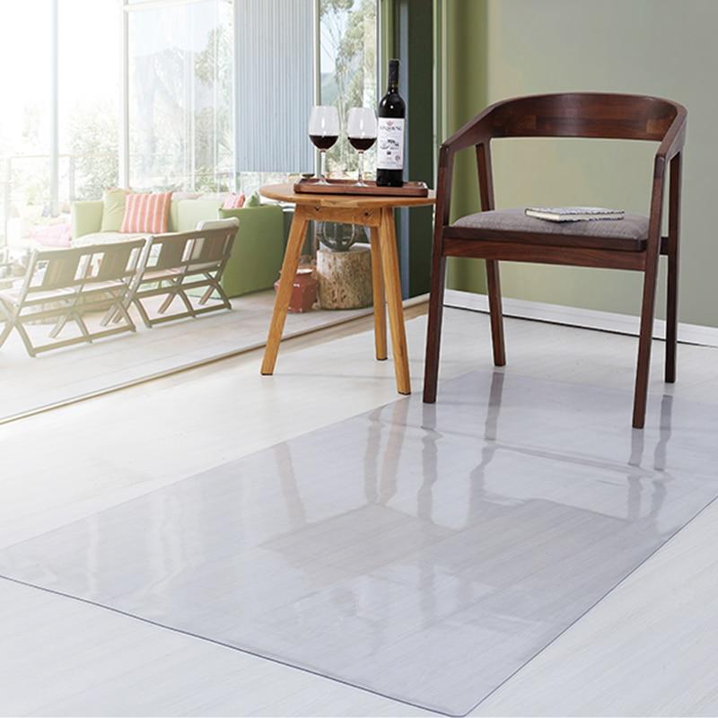 Living Room Wood Floor Protection Mat  Kitchen Waterproof Non-slip Carpet PVC Computer Chair Plastic Mats Transparent Door Rug