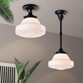 Glass Pendant Light For Bedroom Kitchen Study Room Ceiling Chandelier Black Industrial Hanging Lamp Nordic Lamps Indoor Lighting