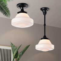 Glass Pendant Light For Bedroom Kitchen Study Room Ceiling Chandelier Black Industrial Hanging Lamp Nordic Lamps Indoor Lighting