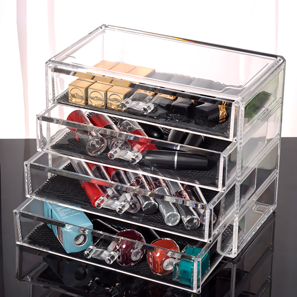Transparent Acrylic Storage Drawer Makeup Organizer Table Jewelry Home Sundries Cosmetic Storage Box Storage Holders