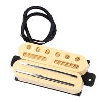 Electric Guitar Humbucker Pickup Dual Hot Rail/Single Coil Musical Instrument Accessory, Beige