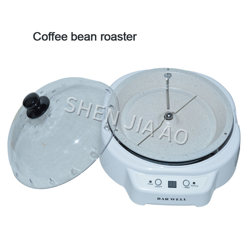 Automatic Coffee Bean Roaster Machine Home Kitchen Roller Baking Tool 220V