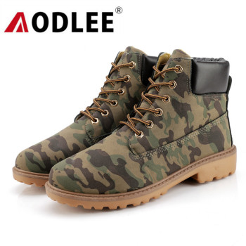 Camouflage Winter Boots Men Waterproof Plus Size 46 Fashion Mens Boots Leather Work Shoes Ankle Boots Men Warm Snow Boots Shoes men s boots men ankle boots winter warm plush snow boots men outdoor sneaker work boots male rubber winter shoes size 39 46