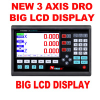 New Big Lcd Display Dro LCD Display 3 Axis Complete Dro Set Linear Scale Dimensions 200 300 400 500 600 700 800 900 1000mm