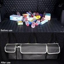 รถ Trunk Organizer Backseat เก็บกระเป๋า Multi ใช้ Oxford รถกลับ Organizer ภายในรถยนต์ Car Storage