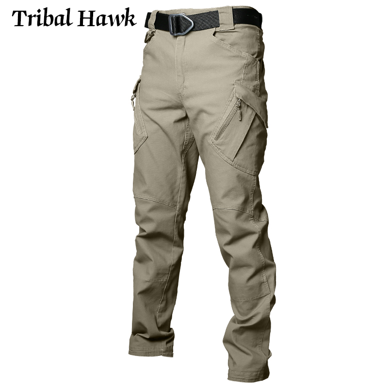 Image 2 - Tactical Cargo Pants Men Military Work Pants Army Stretch Flexible Multi Pockets Casual Cotton Trousers Pantalon Hombre XXXL IX9-in Cargo Pants from Men's Clothing