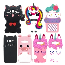 For Samsung J5 2016 Case Silicone Unicorn Cat 3D Cartoon Soft Phone Case For Samsung Galaxy J5 2016 J510 SM J510F Cover Cases