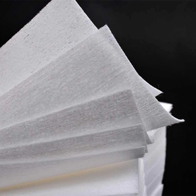 900 قطعة هلام مزيل طلاء الأظافر هلام البولندية الأنظف مانيكير مزيل الأظافر الوبر خالية مناديل نظافة ورقة الوسادة