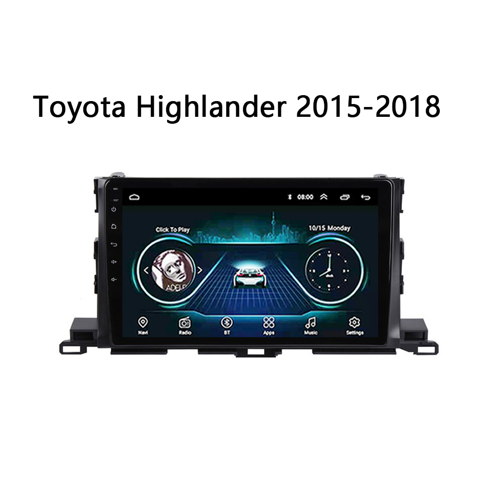 """Car stereo system for Toyota Highlander 2015 2016-2018 multimedia radio DVD player head unit SWC FM bt bose WIFI Android 8.1 10"""""""