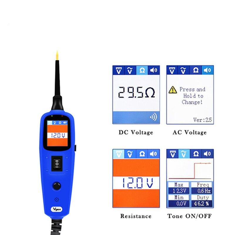 Мощность зонда автомобиля электрической цепи тестер автомобильные инструменты 12 В Vgate Pt150 тестер электрической системы как Autek YD208 Autel PS100