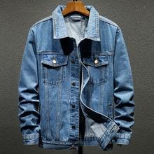 Vintage chaqueta de las mujeres 2020 Otoño e Invierno Denim Oversize chaquetas Blue Jeans lavados abrigo de giro-abajo Collar de prendas de vestir chaqueta de Bombardero