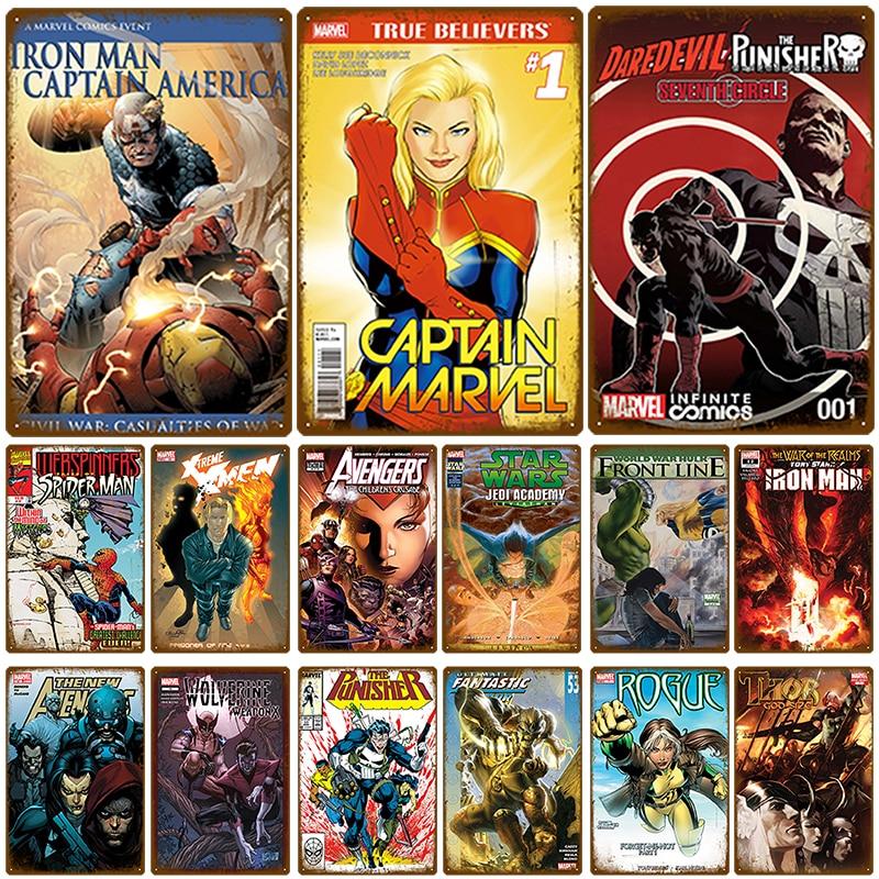 Metal Sign Cartoon Superhero The Punisher Marvel Comics NEW